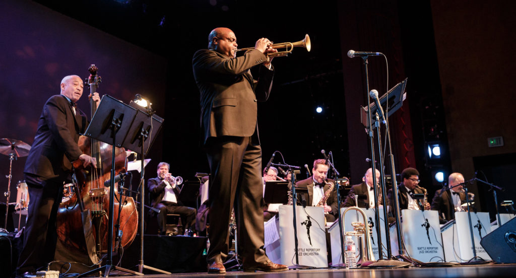 The Seattle Repertory Jazz Orchestra, with special guest, trumpeter Terell Stafford, performs at the Edmonds Center for the Arts.