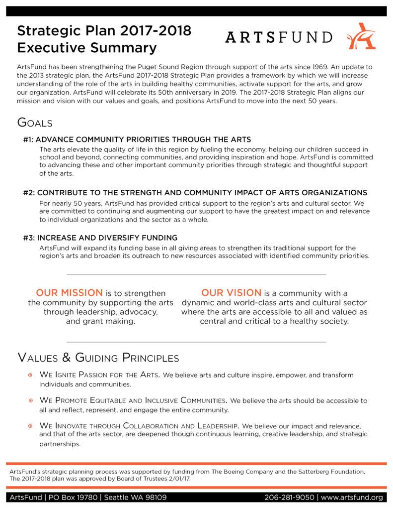 Strat plan exec summary 2017-2018