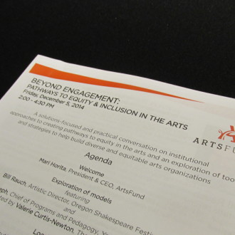 Beyond Engagement: Pathways to Equity & Inclusion in the Arts
